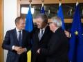 Порошенко проводит переговоры с Туском и Юнкером