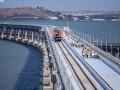 В РФ заявили о завершении строительства ж/д части Крымского моста