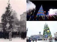Простота, конус и агитплакаты: как изменялась главная елка Украины