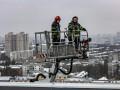 В Киеве пожарные провели учения в многоэтажке