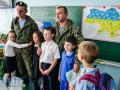 Бойцы 72-ой провели урок мужества в киевской гимназии (фото)
