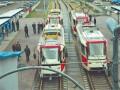 На Троещине запустили обновленный скоростной трамвай