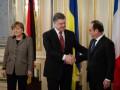 Порошенко, Меркель и Олланд призвали к прекращению огня на Донбассе