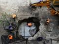 В центре Киева провалился асфальт (фото)