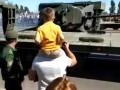 В России после парада перевернулся танк