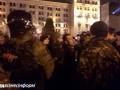 На Майдане произошел конфликт между протестующими и полицией