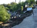 В Днепропетровске из-за оползня на 10 метров провалился КПП автобазы