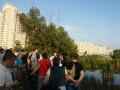 Жители Позняков вышли на защиту озера от застройки