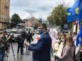 В Харькове облили зеленкой экс-нардепа