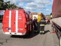 В Киеве водителя раздавил прицеп собственной фуры