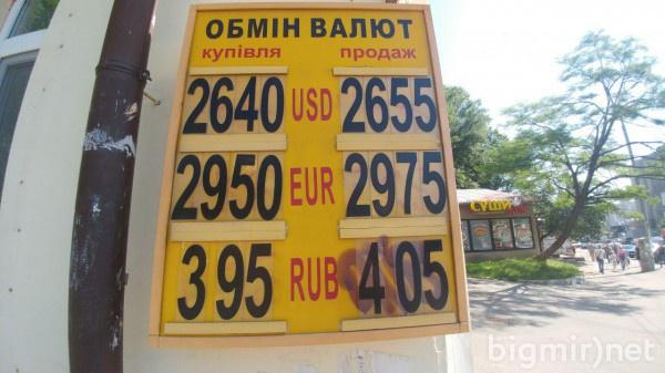 В обменникам утром в понедельник, 3 июня, доллар можно купить по 26,55 грн