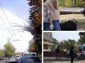 В Харькове от урагана пострадала девушка