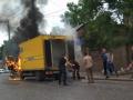 В Черновцах сгорел грузовик Укрпочты
