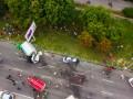 В Днепре пьяный водитель грузовика протаранил две легковушки: есть жертвы