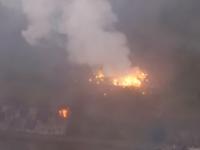 Взрывы на складе в Ичне сняли с воздуха
