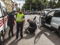В Киеве мотоциклист разбился о Volkswagen