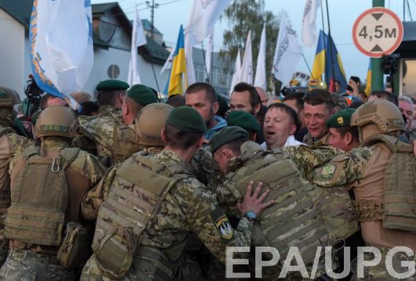 В Шегини прибыли в основном журналисты, которые сопровождали Саакашвили