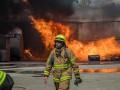В Днепре произошел крупный пожар на складе ГСМ