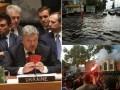 Итоги 20 сентября: Порошенко в ООН, потоп в Киеве и протесты в Одессе