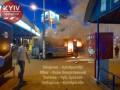 В Киеве возле станции метро загорелась маршрутка