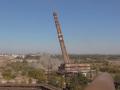 Появилось видео демонтажа трубы Запорожстали с помощью взрыва