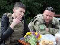 Надежда Савченко и Дмитрий Ярош встретились на передовой на Донбассе