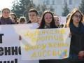 В Луганске боевики согнали студентов митинговать против ОБСЕ