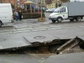 В Киеве возле цирка провалился асфальт