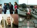 День в фото: Корбан за решеткой, собака на танке и Порошенко с японским послом