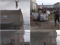 Паркур по-российски: пять полицейских против
