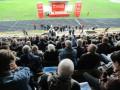 Выступление Симоненко на собрании по поводу проведения референдума пытаются заглушить музыкой - СМИ