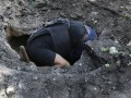 Появились фото воронок в Донецке, якобы следов авиабомбардировки
