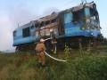 В Винницкой области горел пригородный поезд
