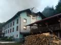 На Закарпатье сгорел туристический комплекс