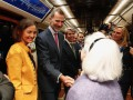 Король Испании прокатился в метро и остался неузнанным