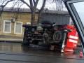 Тройное ДТП в Одессе: Перевернулась пожарная машина