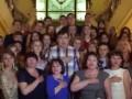 В Одессе Саакашвили среди ночи спел с выпускниками гимн Украины