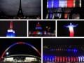 Теракты в Париже: во всем мире почтили память жертв французским триколором