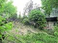 В Киеве из-за продолжительных ливней появились оползни
