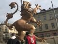 Во Львове появился памятник льву с герба ЗУНР