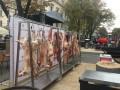 В Одессе тушами животных перекрыли Дерибасовскую