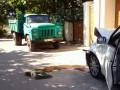 В Одессе грузовик намеренно протаранил авто с активистами