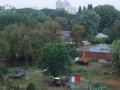 Киевляне сообщают о массовой вырубке деревьев недалеко от зоопарка