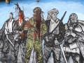 В Мариуполе вандалы облили краской панно от Азова