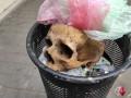 В Николаеве в мусорнике нашли человеческий череп