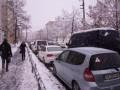 Пробки: Киев в 10-балльном заторе из-за мокрого снега