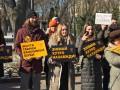 В 10 городах Украины протестовали против меха