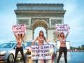 Femen провели акцию в Париже к приезду глав иностранных государств