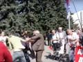 В Харькове на первомайском марше облили кефиром главу пророссийской организации