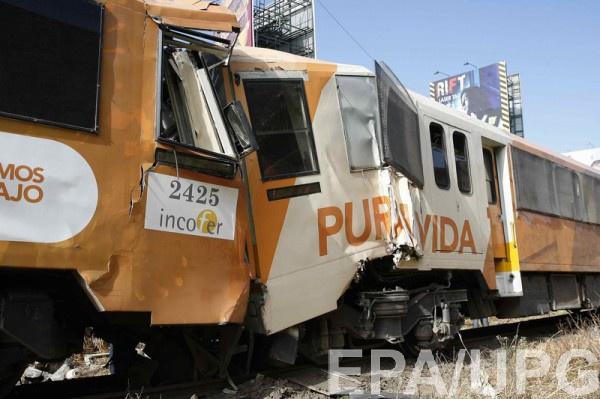 ВКоста-Рике пострадали неменее 100 человек при столкновении поездов